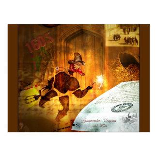 Carte Postale 1605 - Le complot de poudre (détail)