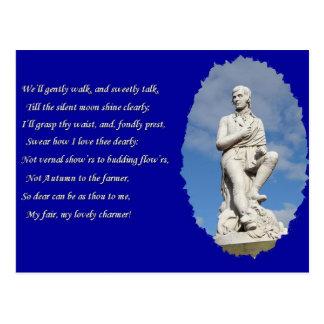 Carte Postale 1759-1796) poèmes et chansons de Robert Burns (