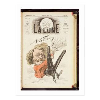 """Carte Postale 1820-1910) pages titre de Nadar (de """"La Lune"""","""