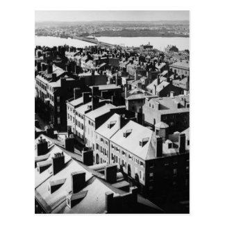 Carte Postale 1859 : La ville de Boston, le Massachusetts