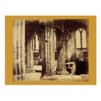 Carte postale 1860 de chapelle de Rosslyn
