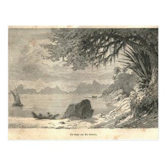 Carte Postale 1877 Rio de Janeiro d'impression la terre et ses