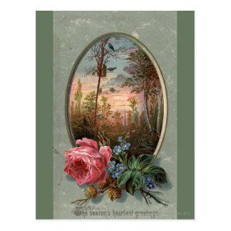 Carte Postale 1883 : Fleurs des bois