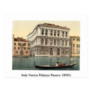 Carte Postale 1890's de l'Italie Venise Palazzo Pesaro