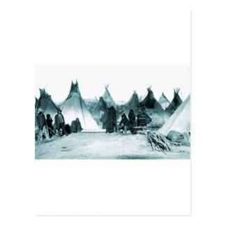 Carte Postale 1890s indiens indigènes de camp