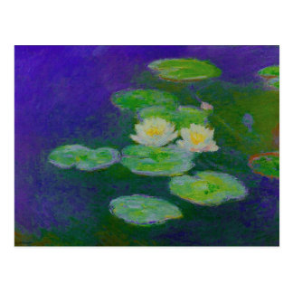 Carte postale 1897 de nénuphars de Monet