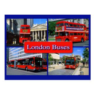 carte postale 18 d'autobus de Londres