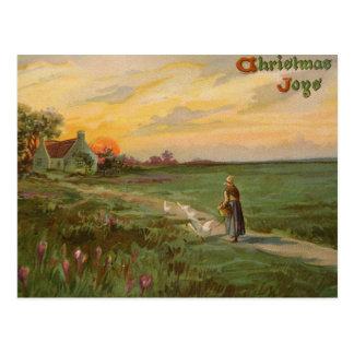 Carte postale 1909 de Noël de cru de joies de Noël