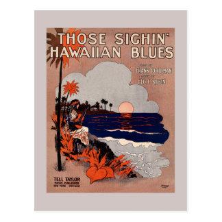 Carte Postale 1916 couvertures vintages de musique de feuille de