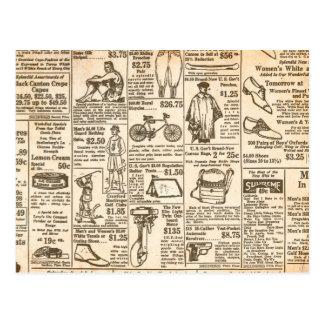 Carte Postale 1922 publicités de journal vintages