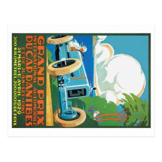 Carte Postale 1929 casquette D'Antibes Grand prix emballant