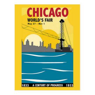 Carte postale 1933 de cru de l'Exposition