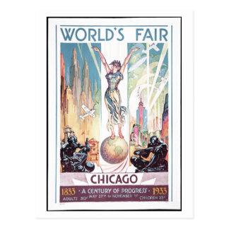 Carte postale 1933 de l'Exposition universelle de