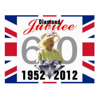 Carte postale 1952-2012 de jubilé de diamant
