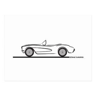 Carte Postale 1956 1957 Chevrolet Corvette