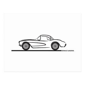 Carte Postale 1956 1957 hards-top de Chevrolet Corvette