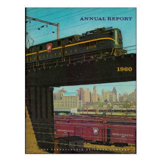 Carte postale 1960 de rapport annuel de chemin de