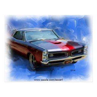 CARTE POSTALE 1966 GTO