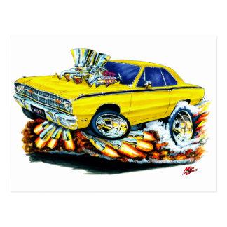 Carte Postale 1968-71 voiture de jaune de dard de Dodge