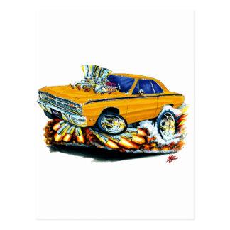 Carte Postale 1968-71 voiture d'orange de dard de Dodge