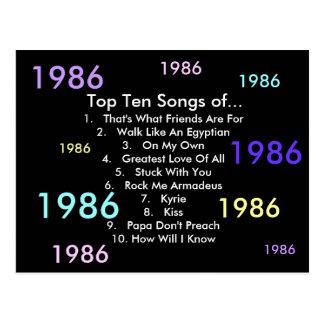 Carte Postale 1986 chansons