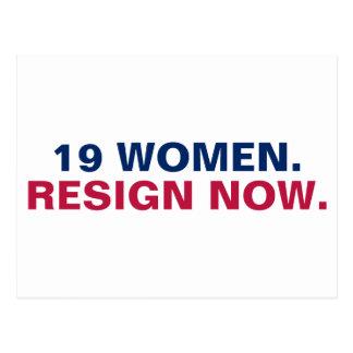 Carte Postale 19 femmes démissionnent résistent maintenant