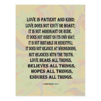 Carte Postale 1 13:4 de Corinthiens - amour 7