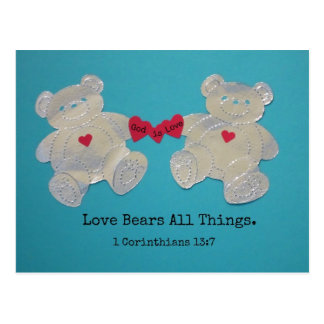 Carte Postale 1 amour de 13:7 de Corinthiens soutient toutes les