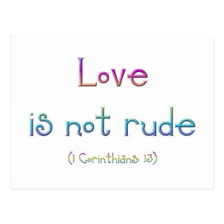 Carte Postale 1 Corinthiens 13 - l'amour n'est pas grossier