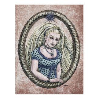 """Carte postale #1 d'art d'imaginaire de """"Rapunzel"""""""