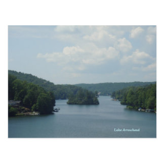 Carte postale 1 de pointe de flèche de lac
