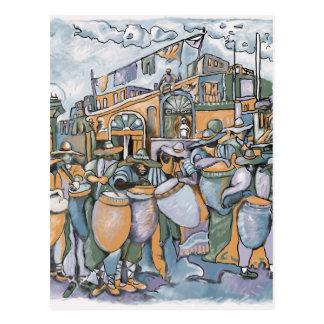Carte postale 2008 de nuit de tambours contre