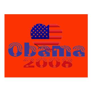 """Carte postale 2008 d'Obama de """"coeur"""""""