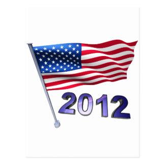 Carte Postale 2012 avec le drapeau des Etats-Unis