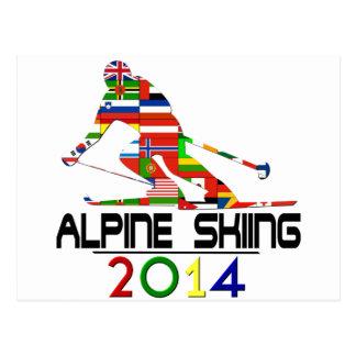 Carte Postale 2014 : Ski alpin