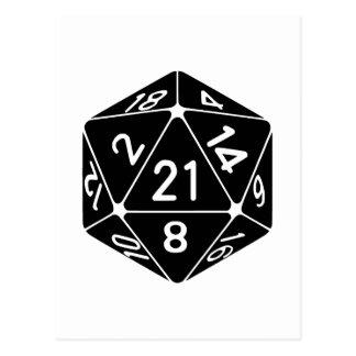 Carte Postale 21 a dégrossi le 21ème Gamer d'imaginaire de