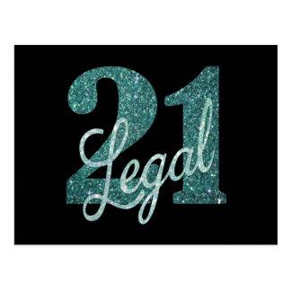 Carte Postale 21ème Parties scintillantes juridiques de la