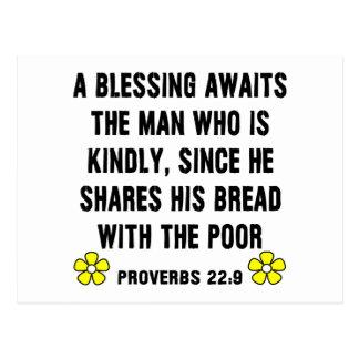 Carte Postale 22:9 de proverbes de bénédiction