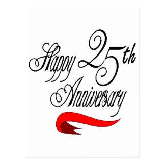 Carte Postale 25ème Cadeaux d'anniversaire de mariage