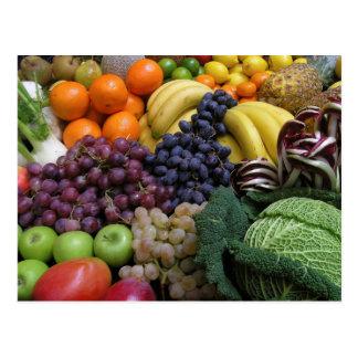 Carte postale 26 de fruit et de nourriture