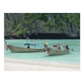 Carte Postale 2 bateaux de Longtail - îles de phi de phi,