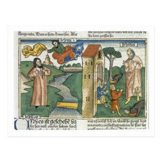 Carte Postale 2 rois 2 1-24 Élijah monte au ciel dans un