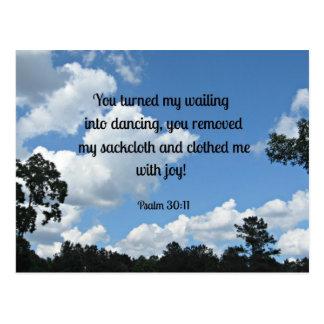 Carte Postale 30:11 de psaume vous avez transformé mon pleurer
