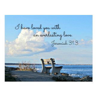 Carte Postale 31:3 de Jérémie je vous ai aimés avec un éternel