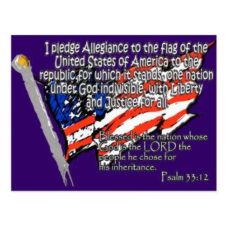 Carte Postale 33:12 de psaume de serment de fidélité