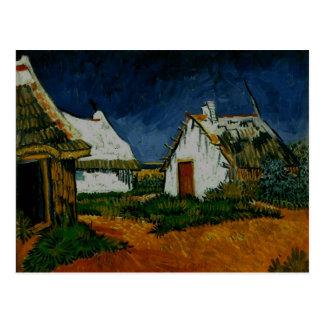 Carte Postale 3 cottages blancs Saintes-Maries, Vincent van Gogh
