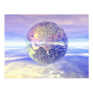 Carte Postale 3D globe 13