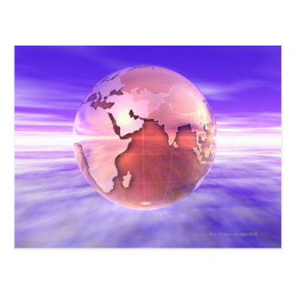 Carte Postale 3D globe 17