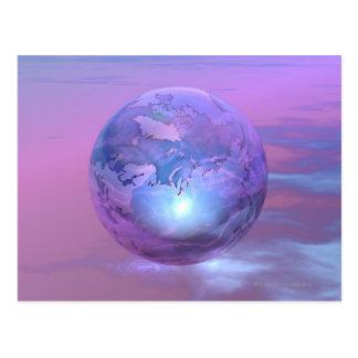 Carte Postale 3D globe 18