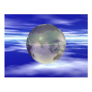 Carte Postale 3D globe 3